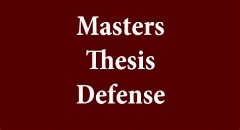 How to write a masters thesis or dissertation